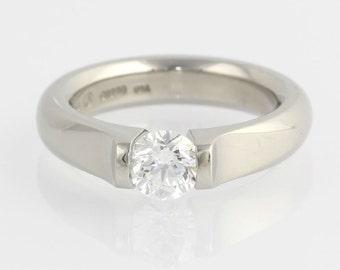 Engagement Ring  Steven Kretchmer Omega Tension - GIA Diamond .64ct VS2 Platinum Unique Engagement Ring X3024