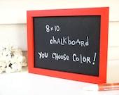 Red Framed Chalkboard Organizer Sign Menu Board - 8 x 10 Eco-Friendly Magnetic Blackboard for the Fridge or Desktop in Bright Red Pick Color
