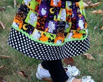 Halloween  Hello Kitty Skirt  (12 mos,  18 mos, 24 mos, 2T, 3T, 4T, 5)