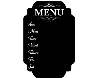 """12"""" x 18"""" Chalkboard Menu Vinyl Film Adhesive Removable Sticker CPSIA Compliant Food Service Lead free Phthalate free"""