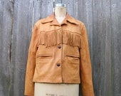 Vintage BRONCO BUSTIN BEAUTY Aged and Well Worn Leather Jacket