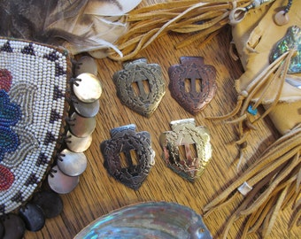 Intricate ARROWHEAD Conchos - 10 pcs - Your Choice of Gold, Antique Brass, Gunmetal, Antique Copper - Native American / Western Craft Supply