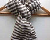 Scarves/ schal/bufanda/echarpe/ halsduk/sciatica- khaki taupe & white Cotton Wool Stripe Scarf- Men Women handwoven Ethiopian Scarf