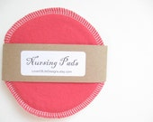 Cloth Nursing Pads--Candy Red--Single Pair--Ready to Ship