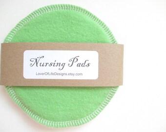 Cloth Nursing Pads--Spring Green--Single Pair--Ready to Ship