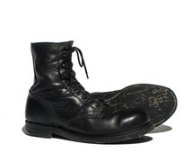 9 1/2 EEE | Vintage Iron Age Work Boots Steel Toes with Nylon Cord Soles Lace Up Ankle Boot