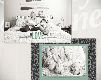 Valentines Day Card Template: Hello Love C - One 5x7 Baby Valentine Card Template