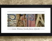 PAPA - Alphabet Art Photography, Personalized Papa Sign, Gift for Dad, Gift for Papa, Papa Sign