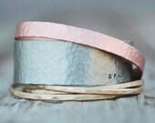 Stacking Bracelets / Personalized Sparkle Bangle Bracelet / Stacking Cuffs Gold Silver Rose / Boho Glitz Hipster
