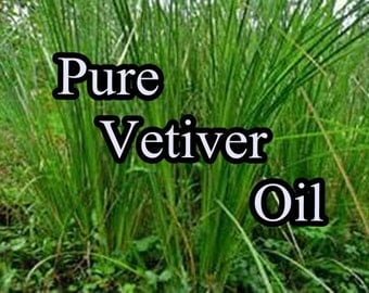 Pure VETIVER Organic Essential Oil (1/2 or 1 oz size)