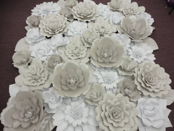 white paper flower wall extra large paper flowers by