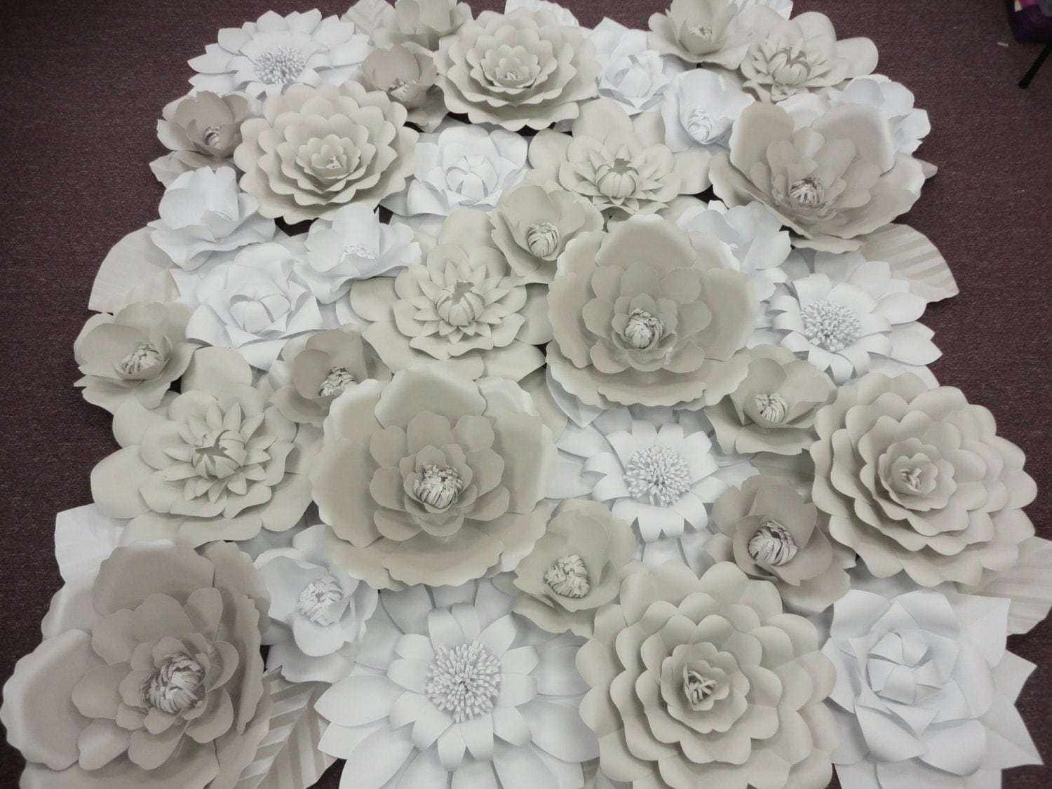 White Paper Flower Wall Extra Paper Flowers Decoration