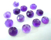 gorgeous amethyst one side cut stone mix lot 13 pc size 8x8mm weight 27.3 available at wholesale price