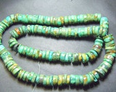 14 Inches So gorgeous Tribal Old Looking Tibetan Turquoise Smooth Wheel Shape Beads Size 8 MM To 12 MM Wholesale Price