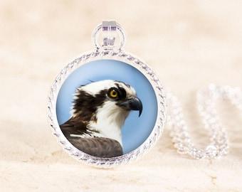 Osprey Necklace, Silver Bird Jewelry, Bird of Prey, Bird Photo Necklace, Silver Bird Necklace, Bird Photography Jewelry, Osprey Bird Jewelry