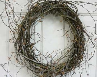 Wild Birch Wreath Bases, Natural and Hand Tied 14 Inch,  Exclusive to Ladybug Wreaths
