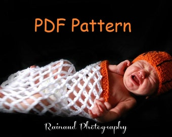 Basketball Cocoon and Hat - PDF Pattern.