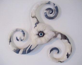 Triskelion Triple Spiral Eye Wall Hanging