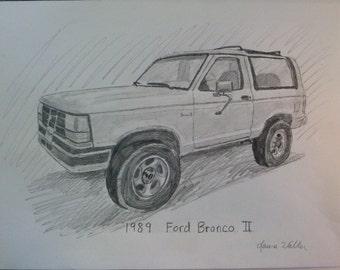 truck drawing car sketch
