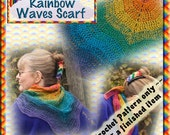 PDF Crochet Pattern Rainbow Waves Scarf