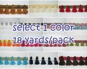 1 Pack (18 Yards) Cotton Tassel, Tassel Trim, wholesale trim, Cotton tassel, Cotton Trim, two tone trim, white tassel trim, pink tassel