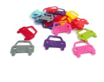 Felt car shapes transportation fabric pre cut shapes die cut arts and crafts