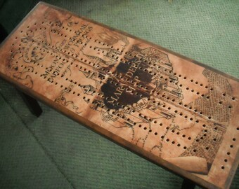Custom Cribbage Board Coffee Table, Cribbage Board, Cribbage Table, Custom Image, Game Table, Custom Photo