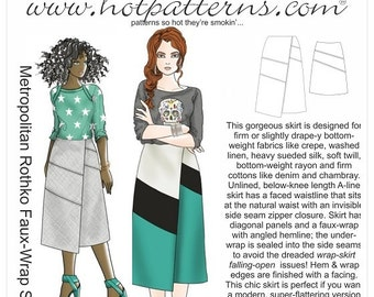 HP 1176 Metropolitan Rothko Faux-Wrap Skirt