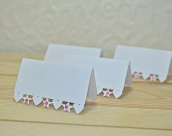 Heart and Star Laser Cut Wedding Place Cards - Pack of 25