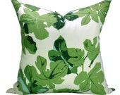 Peter Dunham Textiles Fig Leaf pillow cover in Faded on Hemp - ON BOTH SIDES
