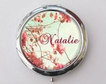 Personalized Compact Mirror, Bridesmaid Gifts, Purse Mirror, Custom Mirror