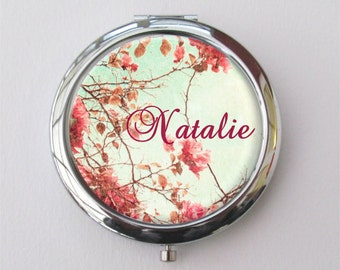 Personalized Compact Mirror, Bridesmaid Gifts, Purse Mirror, Custom Mirror