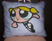CLOSEOUT Upcycled Power Puff Girls Pillows