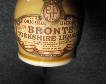Miniature Bronte Yorkshire Liquor Bottle England Imported by James B. Beam  New York Stoneware Miniature Jug kitschy barware souvenir EMPTY