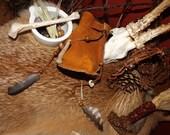 Ancient Shaman Crane Bag - shaman fantasy faery druid witch medicine fetish crane bag pagan Primal Tribal nomad rustic