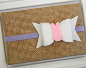 Easter Headband - Infant headband - Toddler headband - Easter Felt Bow Headband