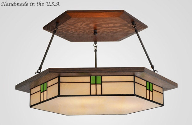 craftsman style dining room lighting fixture by missionstudio
