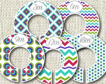 Baby Closet Dividers -Turquoise Fun