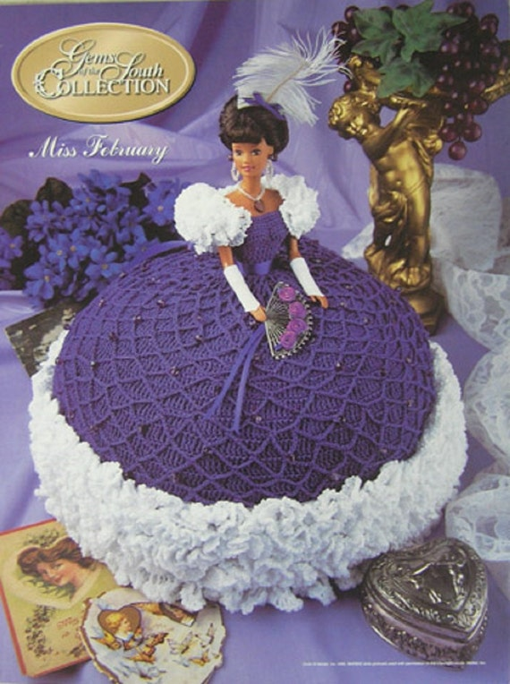 Crochet bed doll pattern gems of the south miss february barbie doll