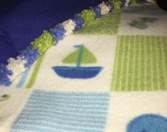 Sailboat Fleece Blanket