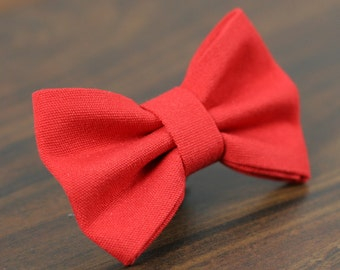 Cat or Dog Bow Tie - Simply Red
