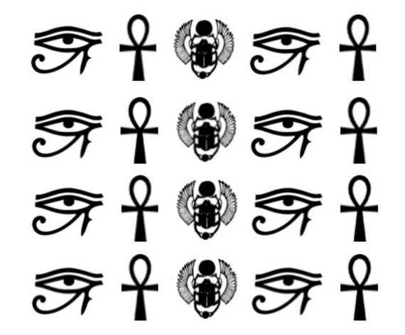Gyptien nail art oeil dhorus ankh scarab e nail - Oeil d horus tatouage ...