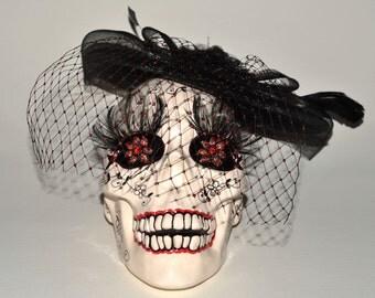 Prima Donna - Lifesize ceramic Skull