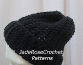 Crochet Hat Pattern Unisex Slouchy Winter Hat  PDF406