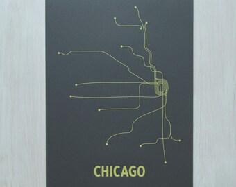 Chicago Screen Print - Steel Gray/Yellow