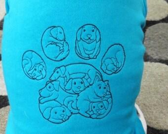 Dog Paw Print Doggie Hoodie Sweatshirt