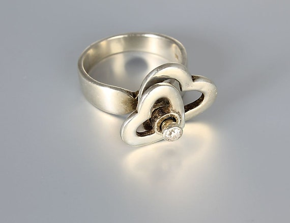 items similar to modernist kinetic ring sterling silver