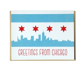 Chicago card, Greetings from Chicago greeting card