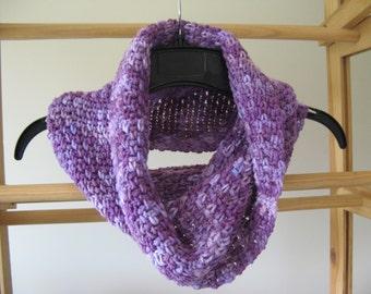 Purple Crochet Cowl