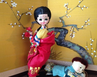 Vintage dolls, asian dolls, korean dolls